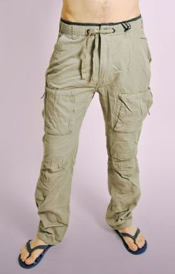 Stone Cotton Combat Pants
